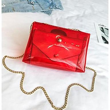 Pentru femei Genți PVC Seturi de sac Set de pungi pentru 2 buc Buton Curcubeu / Maro / Gri Deschis