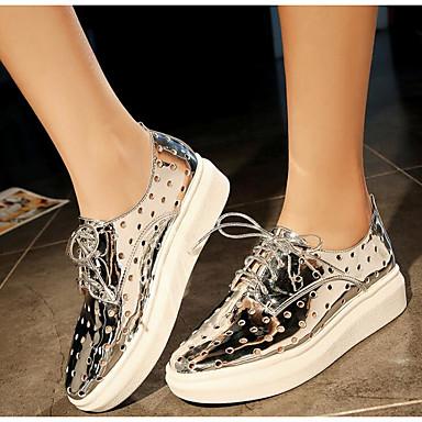 Confort Femme Chaussures Microfibre Eté pointu Argent 06771109 14gTW