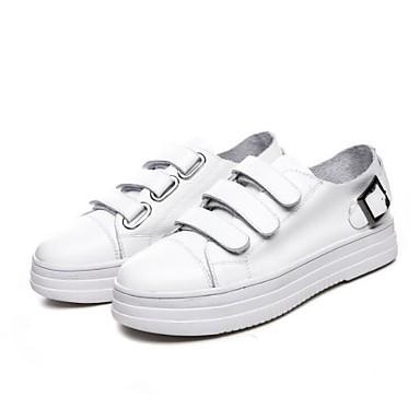 Blanc Unisexe Talon Nappa Cuir Plat Automne Bout Basket Chaussures Printemps 06771131 Confort rond Noir PqwFxZPp