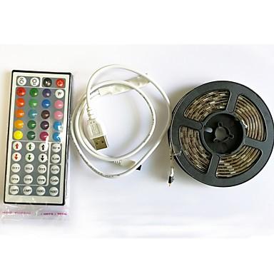 2m Fâșii De Becuri LEd Flexibile / Fâșii RGB / Telecomenzi 60 LED-uri SMD5050 1 44 Controlul telecomenzii RGB + alb Ce poate fi Tăiat / USB / Rezistent la apă 5 V 1set / IP65 / Auto- Adeziv