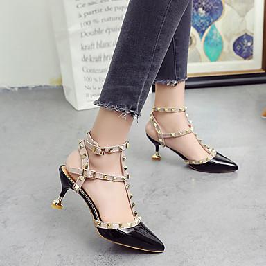 06755473 Chaussures Confort Rose Chaussures Rouge Talons Eté Talon Polyuréthane à Noir Femme Aiguille 7fqI1