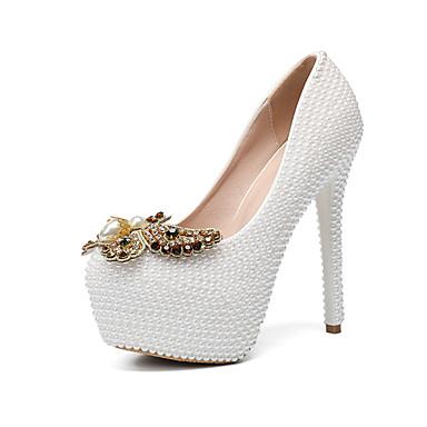 Brillante Blanc de Femme Fleur en Automne Mariage mariage Basique Escarpin Chaussures Chaussures Talon Printemps 06760936 Paillette Satin rond Noeud été Polyuréthane hiver Bout Aiguille rSqwrxR1Fn