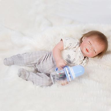 OtardDolls Păpuși Renăscute Bebe Băiețel 18 inch Silicon - Nou nascut natural Confecționat Manual Siguranță Copii Non Toxic Interacțiunea părinte-copil Lui Kid Băieți / Fete Jucarii Cadou