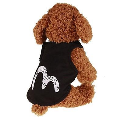 Câini / Pisici / Animale de Companie Γιλέκο Îmbrăcăminte Câini Simplu / Clasic / Literă & Număr Negru Material Din Fâș / Bumbac Costume