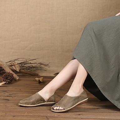 Plat 06764620 Sandales Confort Kaki Eté Cuir Femme Chaussures Talon w8YZHH