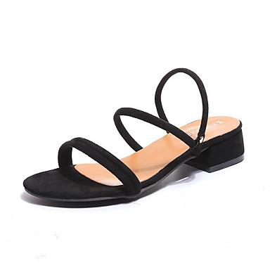 abierta Sandalias Puntera Ante Almendra Marrón Verde Verano 06753749 Tacón Mujer Zapatos Plano Confort 8Bw46