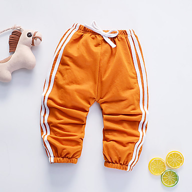 Bebelus Băieți Albastru & Alb Mată Manșon scurt Pantaloni