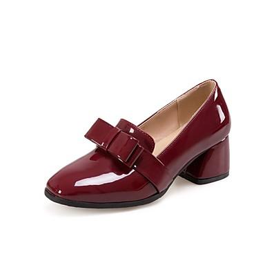 06848536 Confort Chaussures Vin Printemps Verni Eté été Noir Chaussures Femme Talon Cuir Bottier Talons à 6TSnaTx