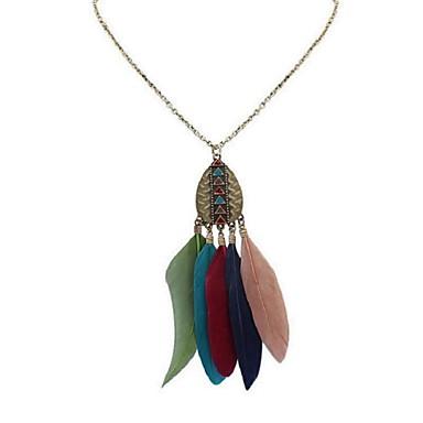 Pentru femei Coliere cu Pandativ - Stilat Curcubeu, Rosu, Verde Închis 70 cm Coliere Bijuterii 1 buc Pentru Școală, Gril pe Kamado