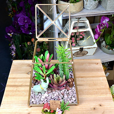 Artificial Flowers 1 Branch Classic Modern Succulent plants Tabletop Flower