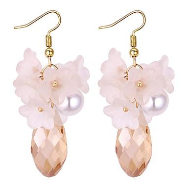 Pentru femei Diamant sintetic Cercei Picătură - Imitație de Perle Stilat Alb / Gri / Curcubeu Pentru Nuntă / Party / Seara