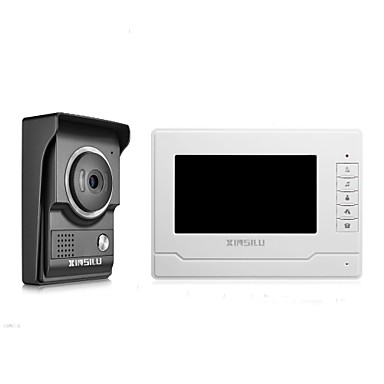 xinsilu de securitate 7inch cablat video ușa telefon usa interfon usa sistem de control al accesului xsl-v70n-l-negru culoare camera exterioara