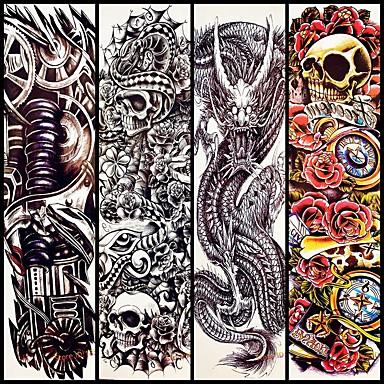 4 pcs Временные тату Временные татуировки Тату с тотемом Искусство тела рука