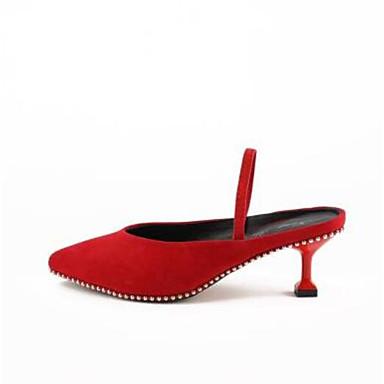 Bout Eté Sabot Confort mouton Mules Talon fermé Rouge Amande Chaussures Femme de 06770353 hétérotypique amp; Peau Noir WfqAnPp