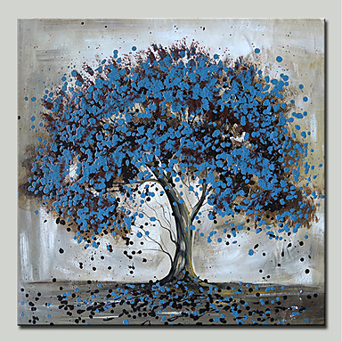 Hang-pictate pictură în ulei Pictat manual - Peisaj / Floral / Botanic Modern pânză / Stretched Canvas