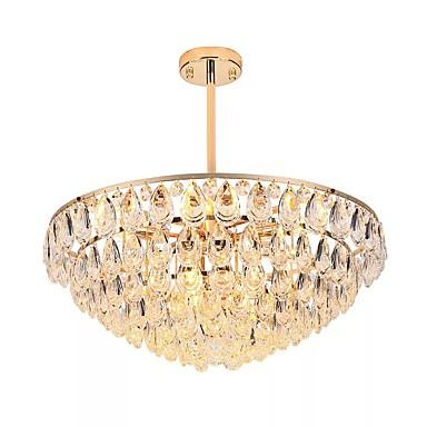 QIHengZhaoMing 8-Light Cristal Candelabre Lumini Ambientale 110-120V / 220-240V, Alb Cald, Bec Inclus / 15-20㎡