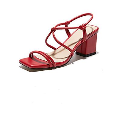 Bout 06769900 Talon Noir Eté Bottier Rouge ouvert Cuir Femme Sandales Nappa Chaussures Confort t8xqxFw7Y