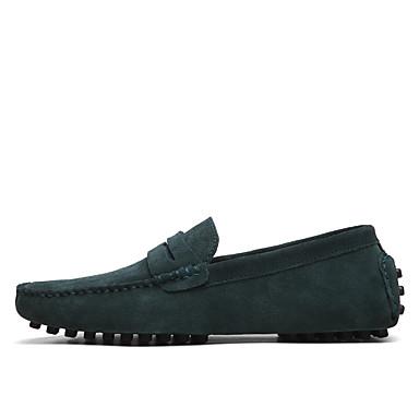 abordables Meilleures Ventes-Homme Chaussures Formal Daim Printemps / Eté Mocassins et Chaussons+D6148 Noir / Vert / Vin / De plein air / Bureau et carrière / EU40