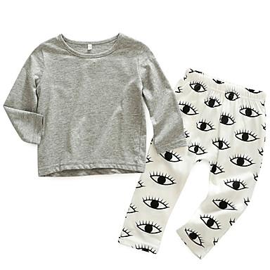 Bebelus Băieți De Bază Mată Manșon Lung Set Îmbrăcăminte / Copil