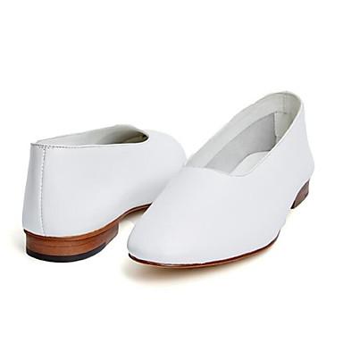 Chaussons Brun Noir 06771173 Mocassins Confort Talon Plat D6148 Eté et Nappa Bout claire Cuir fermé Chaussures Femme Blanc qZw0166