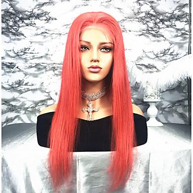 billige Blondeparykker med menneskehår-Remy Menneskehår Blonde Forside Parykk Kardashian stil Peruviansk hår Rett Parykk 130% Hair Tetthet med baby hår Naturlig hårlinje Blekte knuter Dame Lang Blondeparykker med menneskehår beikashang