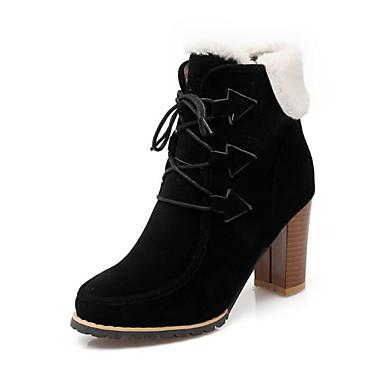Brun mollet Bottier Polyuréthane 06767497 pointu Talon Bottes Combat Noir Chaussures Bottes hiver Foncé Femme boîtes Mi de Amande Bout Automne 1AT6w5qz