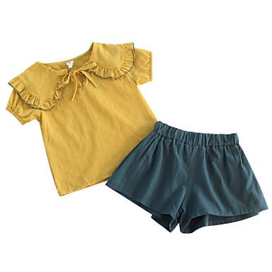 Copil Fete Mată Manșon scurt Set Îmbrăcăminte