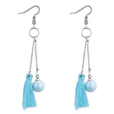 Pentru femei Perle Franjuri Cercei Picătură - Imitație de Perle femei, Ciucure, Vintage, Modă Gri / Rosu / Albastru Pentru Absolvire Școală