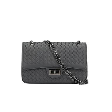 Pentru femei Genți PU Umăr Bag Buton Negru