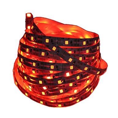 1m Fâșii De Becuri LEd Flexibile 60 LED-uri 2835 SMD Roșu / Albastru Ce poate fi Tăiat / Decorativ / Auto- Adeziv Baterii alimentate 1 buc