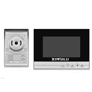 xinsilu xsl-v70k-l șurub multifamily video ușă 7 inch hands-free 800 * 480 pixel unu-la-unu doorphone video