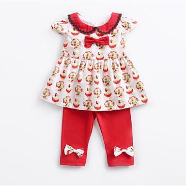 Bebelus Fete Activ Imprimeu Manșon scurt Set Îmbrăcăminte / Copil