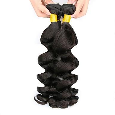 baratos Extensões de Cabelo Natural-3 pacotes Cabelo Peruviano Ondulado 8A Cabelo Humano Cabelo Humano Ondulado Extensões de Cabelo Natural 8-28 polegada Côr Natural Tramas de cabelo humano Melhor qualidade Venda imperdível Para