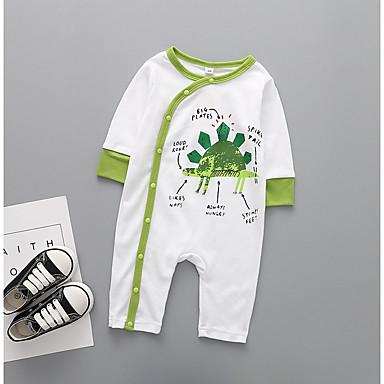 Bebelus Băieți Șic Stradă Imprimeu Manșon Lung Bumbac Salopetă / Copil