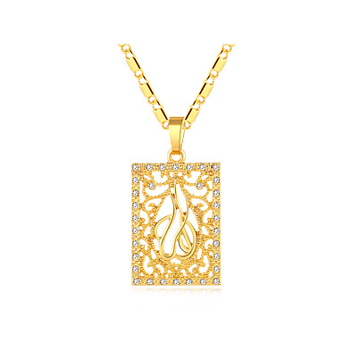 1da791febcdcd2 Women's Thick Chain Hollow Pendant Necklace 18K Gold Plated Locket Ladies  Vintage Ethnic Italian Cool Lovely Gold Silver 50 cm Necklace Jewelry 1pc  For ...