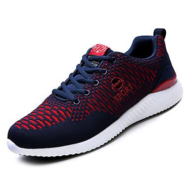 Bărbați Pânză Vară Confortabili Adidași de Atletism Plimbare Gri / Negru / Roșu / Negru / Albastru