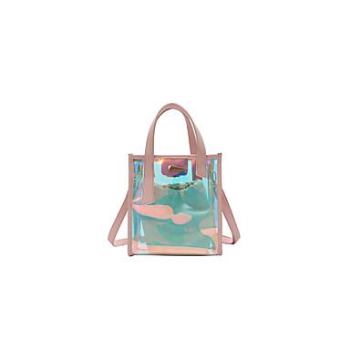 Pentru femei Genți PVC Seturi de sac Set de pungi pentru 2 buc Fermoar Negru / Roz Îmbujorat