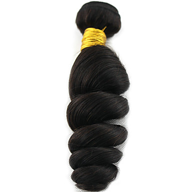baratos Extensões de Cabelo Natural-1 pacote Cabelo Brasileiro Ondulado 8A Cabelo Humano Extensões de Cabelo Natural 8-28 polegada Côr Natural Tramas de cabelo humano extensão Extensões de cabelo humano Todos