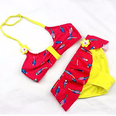 Copii Fete De Bază Sport Mată / Geometric Peteci Fără manșon Costum Baie