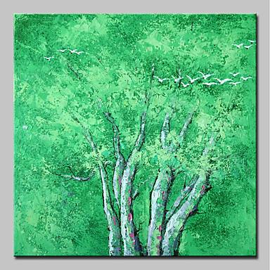 Hang oslikana uljanim bojama Ručno oslikana - Pejzaž / Cvjetni / Botanički Moderna Platno