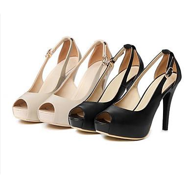 Cuir Amande Basique Escarpin Talon Femme Sandales Confort Noir Chaussures 06832010 Aiguille Printemps Nappa SwqFwx