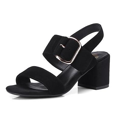Peau Escarpin Eté Bottier 06797310 Basique Amande Femme Noir Sandales de mouton Confort Talon Chaussures Aq6a54w
