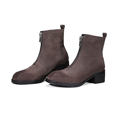 Talon Kaki hiver Daim 06817167 Bottier Chaussures Confort Automne Femme Bottes Noir xYwz4qZWC