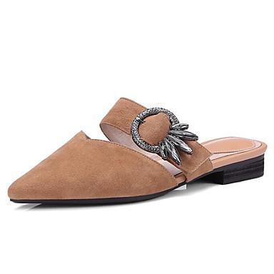 Sabot Confort Printemps Noir Cuir Marron Talon Femme Mules Chaussures Eté Rose Plat 06795348 amp; x1qgw4aX