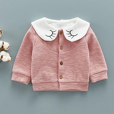 Dijete koje je tek prohodalo Djevojčice Osnovni Jednobojni Dugih rukava Pamuk / Poliester Odijelo i sako Blushing Pink 90