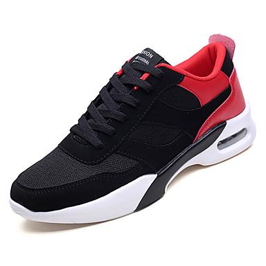 Men's Mesh Walking Fall Comfort Athletic Shoes Walking Mesh Shoes Black / Black / White / Black / Red 101cde