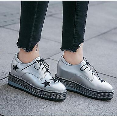 Argent Argent Argent Femme Nappa Oxford6791474 Confort Chaussures 326a5d