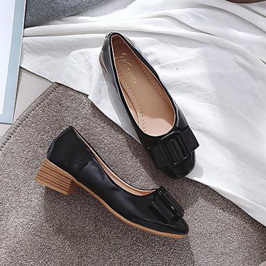 Verano Rosa Rojo Zapatos Mujer Cuadrado Pump Tacones PU Beige Tacón Básico 06836944 UACgqw