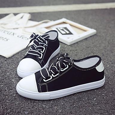 Negro Mujer redondo 06781456 Tacón Dedo Blanco Plano de Zapatillas Verano Zapatos Rosa deporte PU Confort 44w7TR