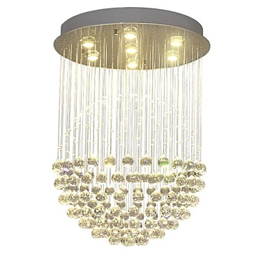 QIHengZhaoMing 7-Light Privjesak Svjetla Ambient Light Brass Crystal 110-120V / 220-240V Meleg fehér Bulb Included / GU10
